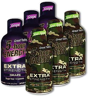 5 Hour Energy, 12 Extra Strength Grape + 12 Extra Strength Sour Apple, 24 Count