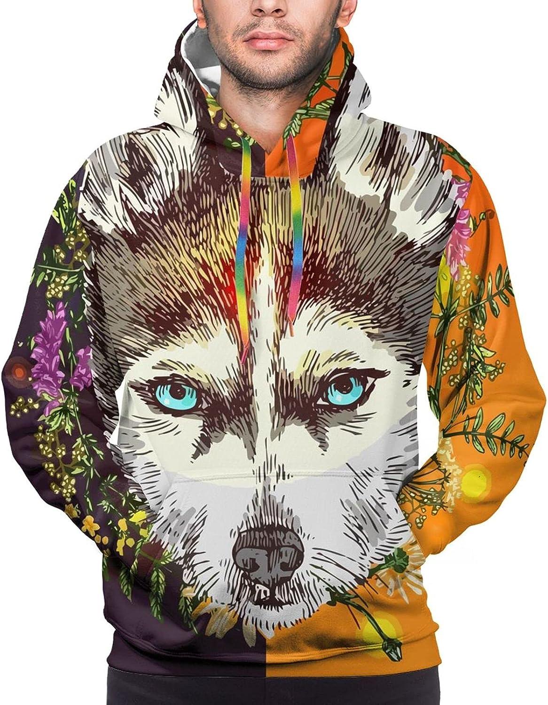 Hoodie For Teens Boys Girls Boho Wolf Colorful Flower Hoodies Outdoor Sports Sweater