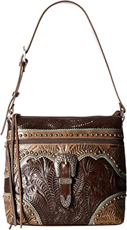 American West Saddle Ridge Zip Top Shoulder Bag