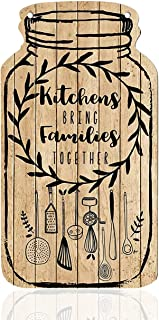 Art Street 1 Piece Wall Sign Kitchens Bring Families Together Printed Wood Sign Farmhouse Style Entryway Sign Plaque for B...