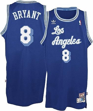 Amazon.com : adidas Kobe Bryant Los Angeles Lakers Blue Throwback ...