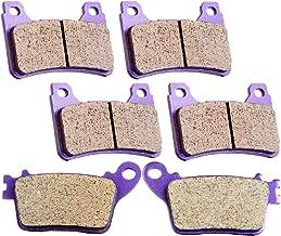 SCITOO Kevlar Carbon Fiber Brake Pads Fit for 06 07 08 09 10 11 Honda CBR1000RR,07 08 09 10 11 Honda CBR600RR