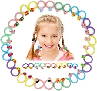 Myhozee Multicolor Baby Girls Elastic Hair Tie, Rubber Bands Hair Accessories for Baby Girls
