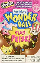 Shopkins Milk Chocolate Wonderball with Candy and Bracelet Surprise, 1 oz (10)