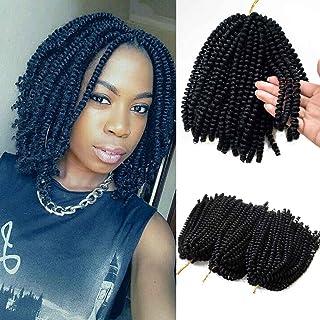 Flyteng spring twist hair for braids black 3 pack/lot Jamaican Bounce Crochet Hair Extensions spring twist crochet hair…