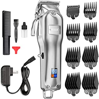 Nicewell Hair Clippers Men Hair Trimmer Cordless Professional Barber Clippers Hair Cutting Kit, with 8-piece Guards Guides