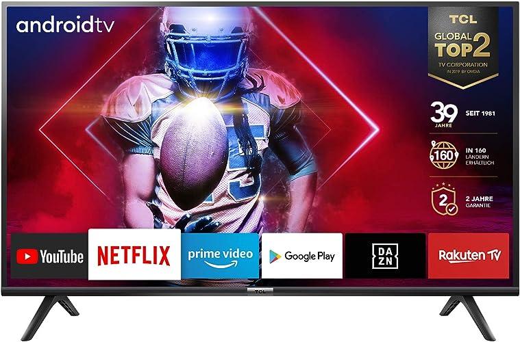Tcl  smart tv full hd, android tv: risoluzione hdr, assistente google integrato, dolby audio,40 pollici 40ES561