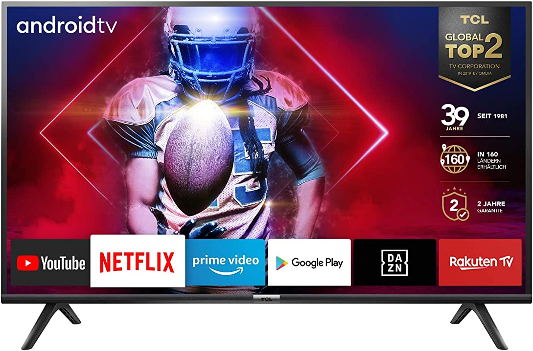 Smart tv hd, (android tv, hdr, micro dimming, google assistant, dolby digital), 32 pollici tcl 32es561