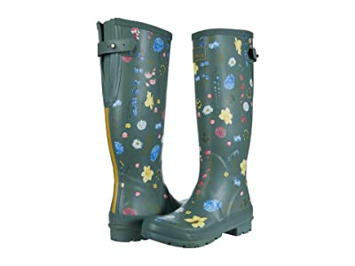 Joules Welly Print (Green Floral) Women