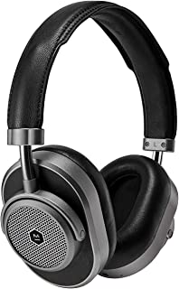 Master & Dynamic MW65 Active Noise-Cancelling (Anc) Wireless Headphones – Bluetooth Over-Ear Headphones with Mic - Gunmetal/Black Leather