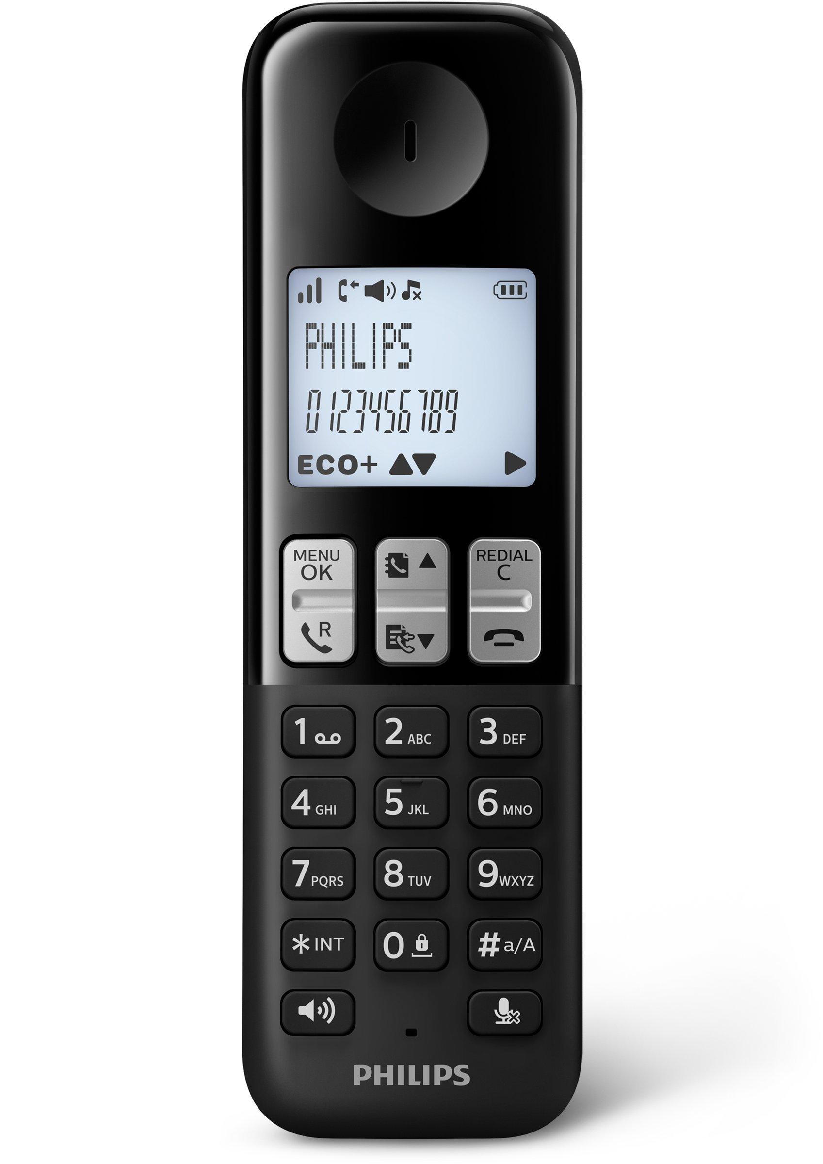 Philips D2351B/23 - Teléfono inalámbrico con contestador automático: Amazon.es: Electrónica
