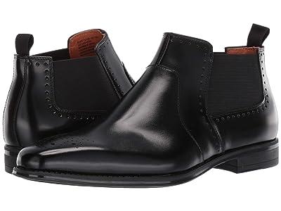 Stacy Adams Perrin Plain Toe Chelsea Boot (Black) Men