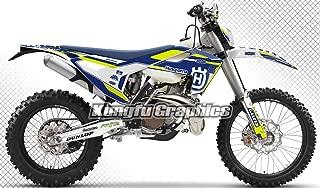 Kungfu Graphics Custom Decal Kit for Husqvarna TC FC 125 250 350 450 2016 2017 2018, Blue Black White