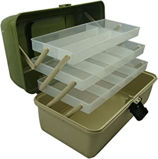 Lunar Box Caja para Aparejos de Pesca voladiza con 3 bandejas. Compartimentos Ajustables