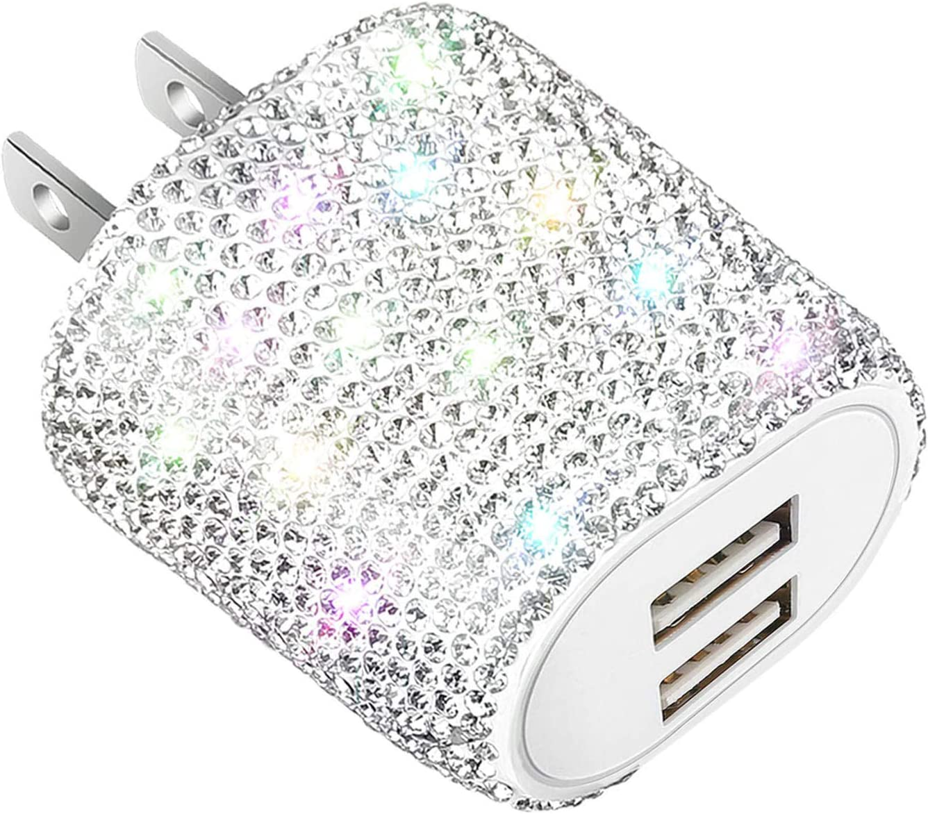 Bling Time sale USB Wall Charger unisex 24W Dual Block Adapter Port Charging Plug