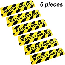 Boao 6 by 24 Inches Watch Your Step Warning Sticker Adhesive Tape Anti Slip Abrasive Tape for Workplace Safety Wet Floor Caution (6)