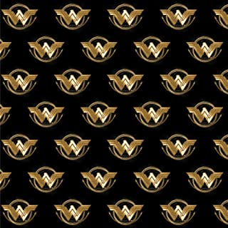 GRAPHICS & MORE Wonder Woman Movie Golden Lasso Logo Premium Roll Gift Wrap Wrapping Paper