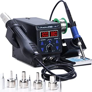 Sponsored Ad – Preciva 8786D I 2-in-1 Hot Air Gun Rework and Soldering Iron Station with ℉/℃, Cold/Hot Air Conversion, Sol...
