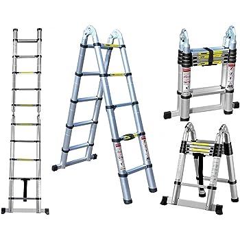 escalera doble Telescópica de 4,4 m, versátil plegable extensible portátil multifunción, escalera para todas tus necesidades de bricolaje.: Amazon.es: Bricolaje y herramientas