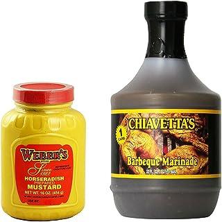 Weber's Horseradish Mustard 16 oz and Chiavetta's Barbecue Marinade 32 oz