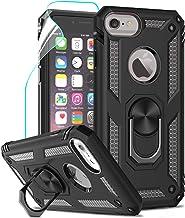 LeYi Coque iPhone SE 2020, Coque iPhone 7,Coque iPhone 8,Coque iphone 6/6s avec Anneau Support, Militaire Double Armor Renforcée TPU Antichoc Etui avec Protection écran pour Apple iPhone 6/6S/7/8 Noir