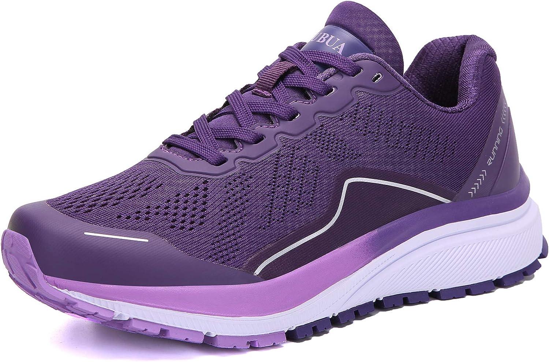 KUBUA Women's Walking Shoes Sock Sneakers Mesh Slip on Running Shoes for Lady Girls's Lightweiht Tennis Shoes