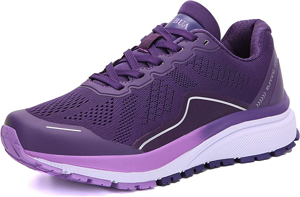 KUBUA Women's Road Running Shoes Arch Supportive Breathable Sneakers