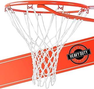 تعویض خالص بسکتبال فوق العاده سنگین - کلیه ضد هوای ضد آب و هوا ، متناسب با رینگ های داخلی و خارجی - استاندارد ، 12 حلقه سفید