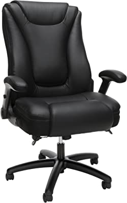 OFM Essentials Collection Ergonomic Executive Bonded Leather Office Chair, in Black
