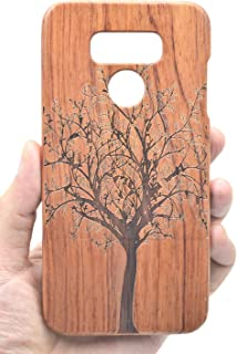 VolksRose LG G6 Wood Case - Rosewood Christmas Tree - Premium Quality Natural Wooden Case for Your Smartphone and Tablet