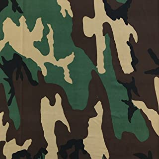 DTY Fabric Camouflage (6-1) Stretch Brushed Printed Jersey Knit Apparel 58/60