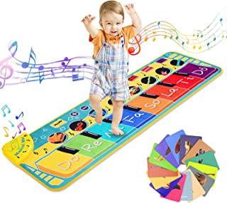 Sponsored Ad - Ysoazgle Kids Musical Mats, Musical Toys Child Floor Keyboard with 8 Demos/ 8 Instrument Sounds/ Record & P...