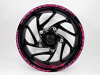Bike Label 770001-VA - Juego de Pegatinas para Llantas de 16-18 Pulgadas, Color Rosa neón
