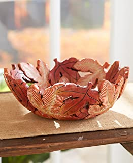 The Lakeside Collection Harvest Leaf Bowl