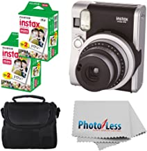 Fujifilm INSTAX Mini 90 Neo Classic Instant Camera (Black) with 2X Fujifilm Instax Mini 20 Pack Instant Film (40 Shots) + ...
