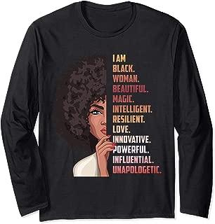Dashiki Educated Black Women Girl Gift Long Sleeve T-Shirt