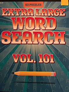 63 Extra Large Word Search Volume 101 by BENDON