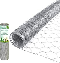 Amagabeli 2 inch Hexagonal Poultry Netting Galvanized Chicken Wire Mesh Fence 20gauge Large Frame with Chicken Netting Rab...