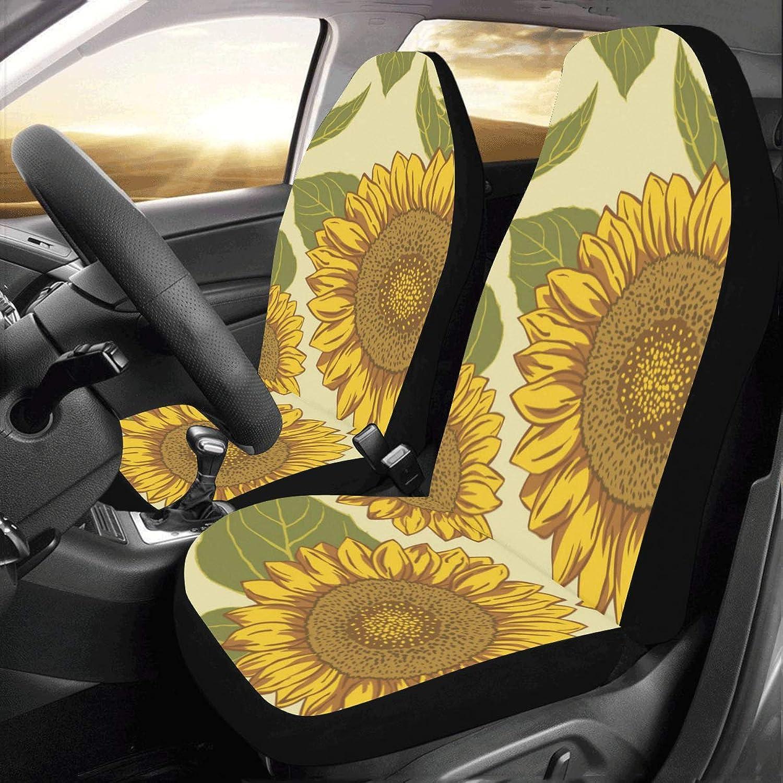 InterestPrint AnnHomeArt Milk Pattern Car Seat Covers Auto Seat Cushion(Set of 2)
