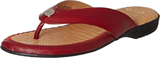 Scholl Women's Flat Trim Thong Leather Slippers