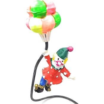 E'cella Fish Tank Balloon Clown for Aquarium Decoration - Air Operated Action Plastic Toy
