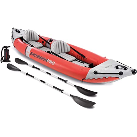 Intex Unisex's Excursion Pro K2 Inflatable Kayak, Red