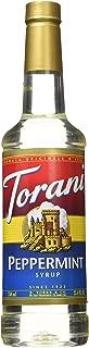 Torani Peppermint Syrup 750ml PET (Plastic) Bottle