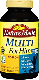 Nature Made Multi for Him - 300 Tablets 莱萃美 男士专用营养素 300 tablets Made in USA (男性300粒)