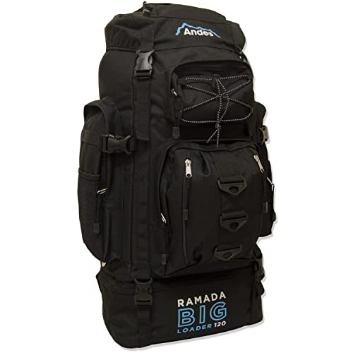 Andes Ramada 120L Extra Large Hiking Camping Backpack Rucksack Luggage Bag 3865a1b90f530