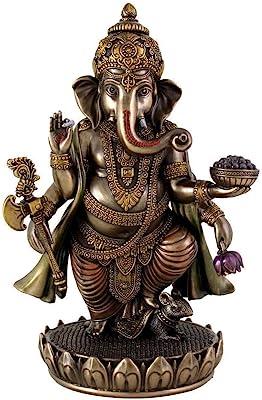 Purpledip Ganesha Ganpati Vinayak Statue Idol for Home Temple Decor Indian Gift (10829)