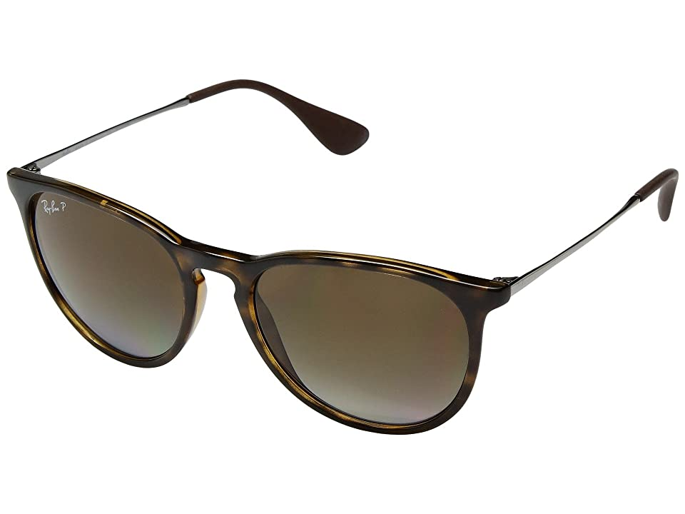 Ray-Ban Erika RB4171 54mm (Transparent Brown/Brown Gradient) Fashion Sunglasses