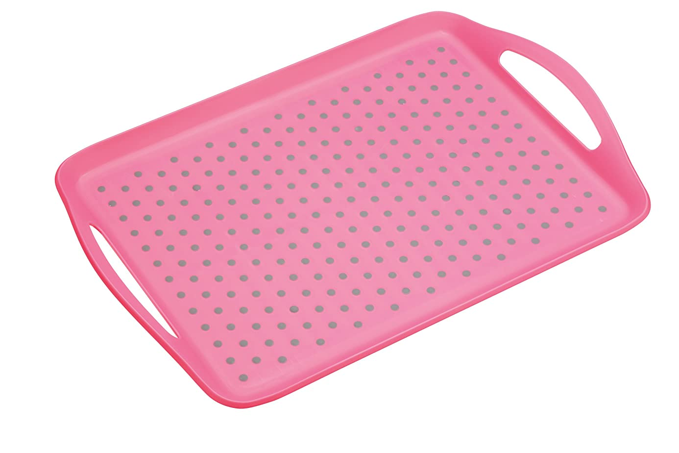 Kitchen Craft Colourworks Non-Slip Plastic Serving Tray, Pink, 28.5 x 41 cm nmb0187710
