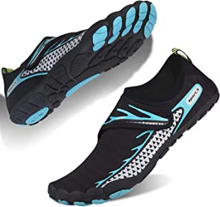 Water Shoes Mens Womens Barefoot Beach Shoes Swim Shoes Quick Dry Aqua Shoes Wetsuit Shoes for Pool Swimming Surfing Fitne...