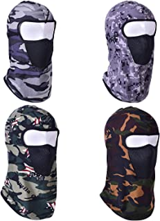 4 Pack Balaclava Face Mask Windproof Sun Dust Protection Mask Breathable Full Face Cover for Outdoors Hunting Cycling Fishing
